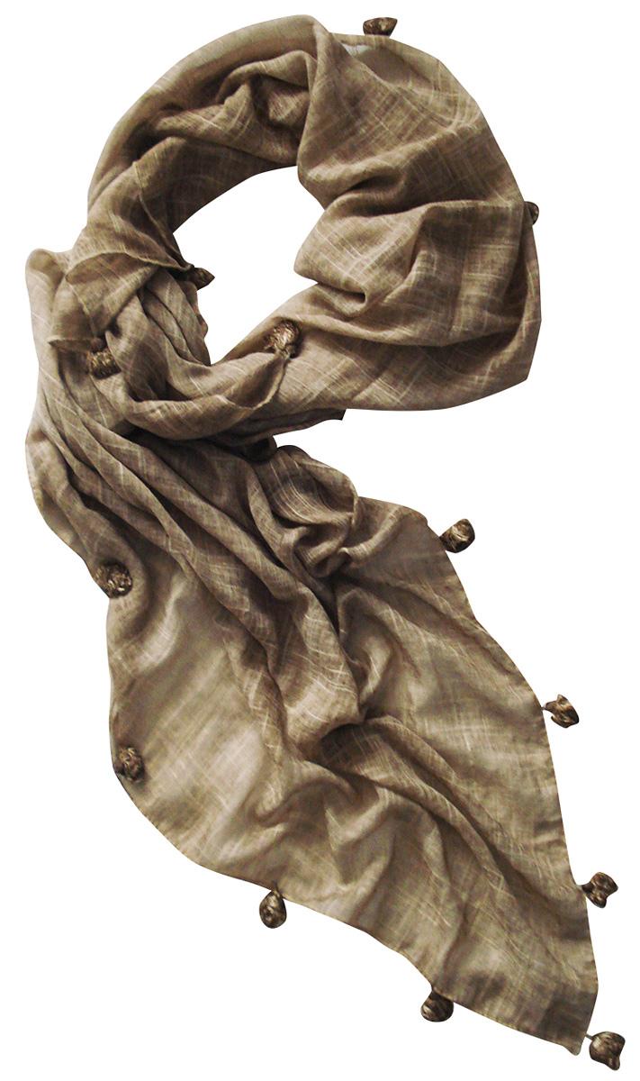 Палантин Laccom, цвет: темно-бежевый. 3402. Размер 190 см х 80 см3402TСтильный палантин Laccom изготовлен из хлопка и полиэстера. Модель оформлена декоративными кисточками по краям. Изделия Laccom приятные на ощупь и подойдут к любому стилю.