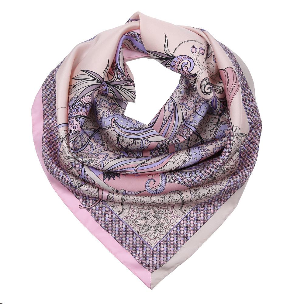 Платок женский Fabretti, цвет: розовый, сиреневый. CX1617-24-3. Размер 90 см х 90 смCX1617-24-3Изысканный женский платок Fabretti выполнен из натурального шелка, который придает изделию неповторимый роскошный блеск и гладкость фактуры. Тонкая и прочная нить, создающая струящуюся ткать, подчеркнет изысканный вкус своей обладательницы.
