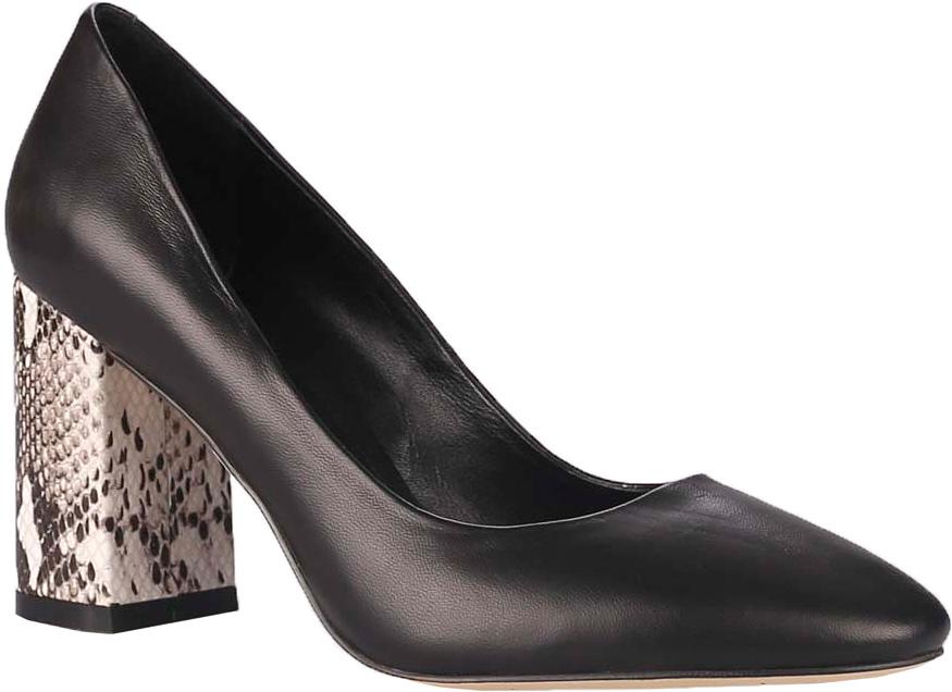 Туфли женские Vitacci, цвет: черный. 85483. Размер 3785483Стильные туфли Vitacci не оставят вас незамеченной! Модель выполнена из качественной натуральной кожи. Стелька из натуральной кожи обеспечивает комфорт и удобство при ходьбе. Подошва выполнена с устойчивым каблуком, оформленным оригинальным принтом.