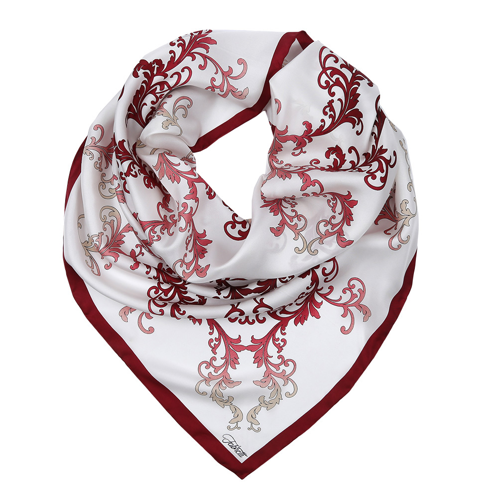 Платок женский Fabretti, цвет: белый, красный. CX1617-37-7. Размер 90 см х 90 смCX1617-37-7Изысканный женский платок Fabretti выполнен из натурального шелка, который придает изделию неповторимый роскошный блеск и гладкость фактуры. Тонкая и прочная нить, создающая струящуюся ткать, подчеркнет изысканный вкус своей обладательницы.