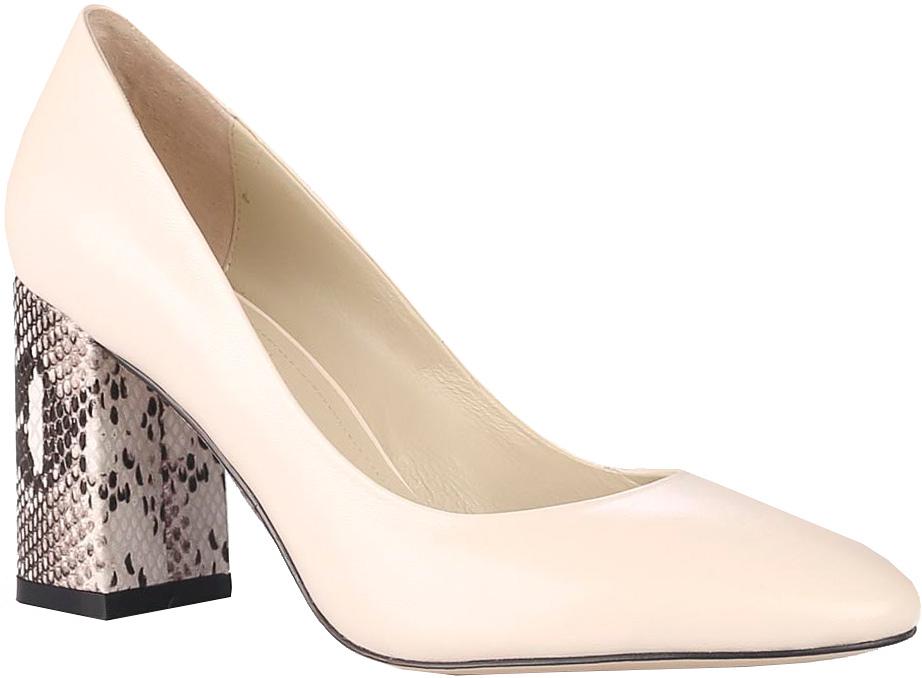Туфли женские Vitacci, цвет: молочный. 85482. Размер 3785482Стильные туфли Vitacci не оставят вас незамеченной! Модель выполнена из качественной натуральной кожи. Стелька из натуральной кожи обеспечивает комфорт и удобство при ходьбе. Подошва выполнена с устойчивым каблуком, оформленным оригинальным принтом.