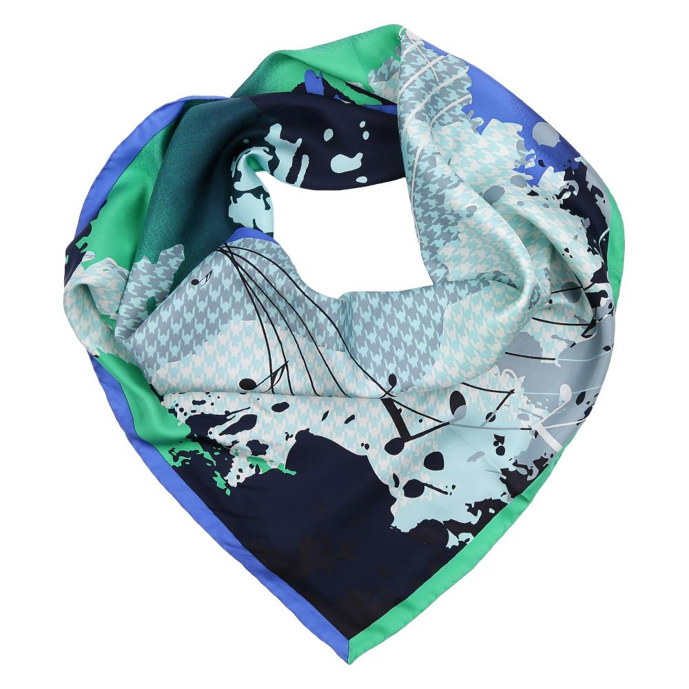 Платок женский Fabretti, цвет: зеленый, синий, серый. CX1617-26-3. Размер 90 см х 90 смCX1617-26-3Изысканный женский платок Fabretti выполнен из натурального шелка, который придает изделию неповторимый роскошный блеск и гладкость фактуры. Тонкая и прочная нить, создающая струящуюся ткать, подчеркнет изысканный вкус своей обладательницы.