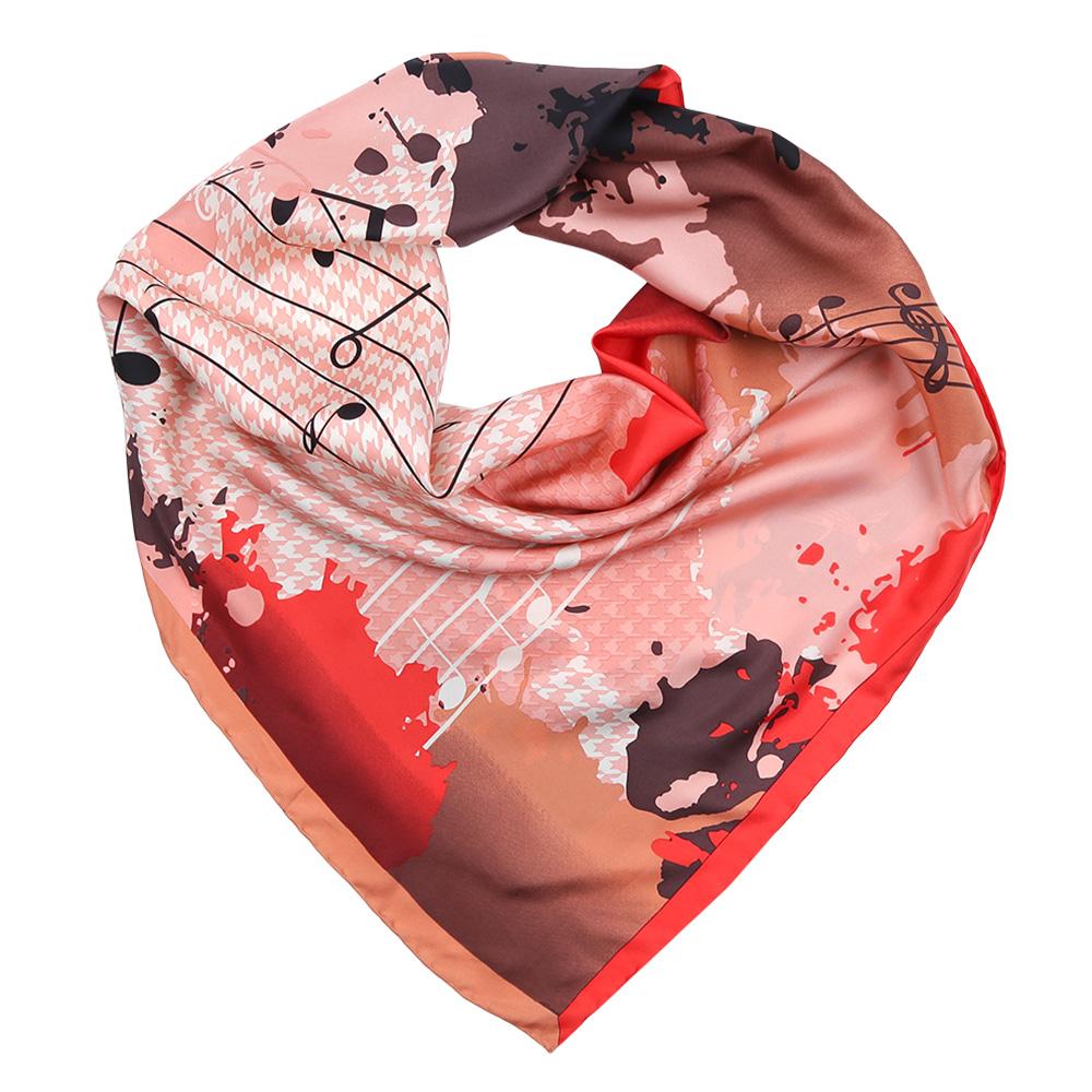 Платок женский Fabretti, цвет: красный, персиковый. CX1617-26-4. Размер 90 см х 90 смCX1617-26-4Изысканный женский платок Fabretti выполнен из натурального шелка, который придает изделию неповторимый роскошный блеск и гладкость фактуры. Тонкая и прочная нить, создающая струящуюся ткать, подчеркнет изысканный вкус своей обладательницы.