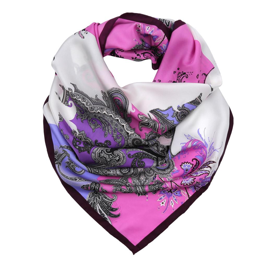 Платок женский Fabretti, цвет: белый, розовый, сиреневый. CX1617-28-4. Размер 90 см х 90 смCX1617-28-4Изысканный женский платок Fabretti выполнен из натурального шелка, который придает изделию неповторимый роскошный блеск и гладкость фактуры. Тонкая и прочная нить, создающая струящуюся ткать, подчеркнет изысканный вкус своей обладательницы.