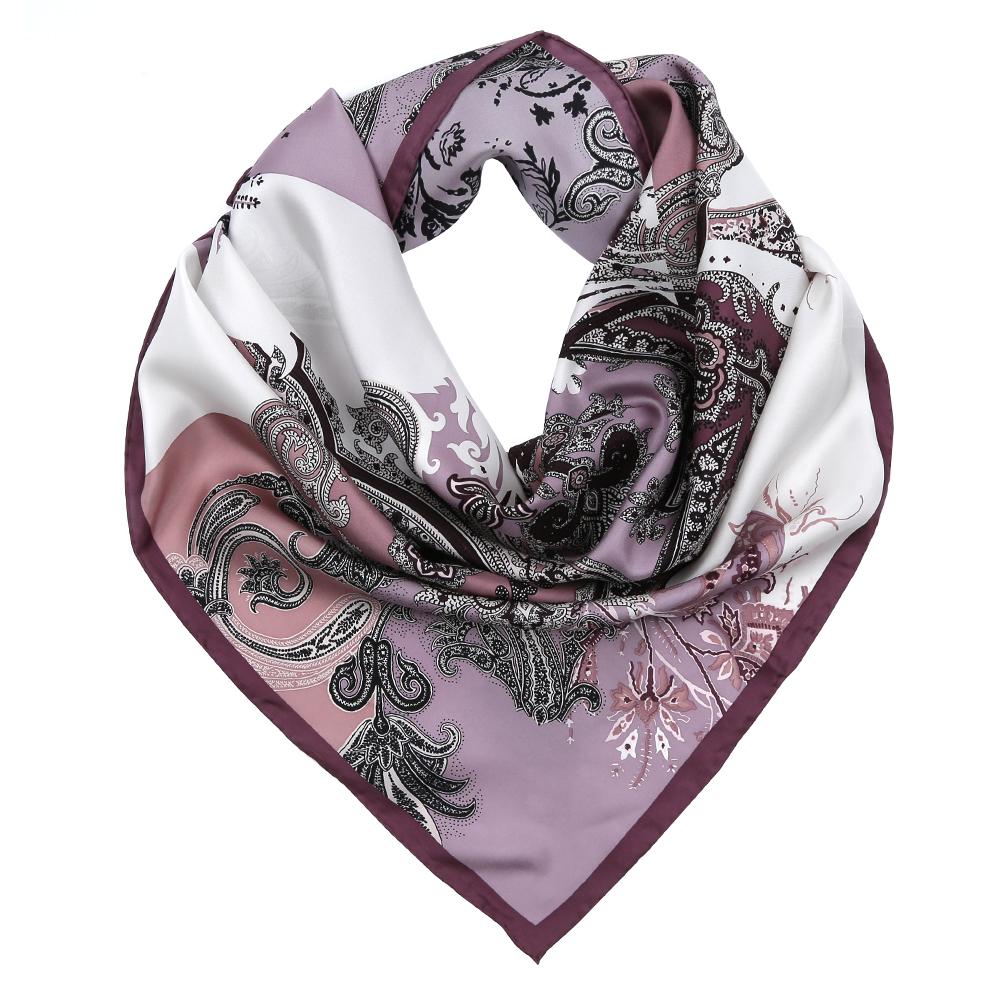Платок женский Fabretti, цвет: белый, коричневый, сиреневый. CX1617-28-6. Размер 90 см х 90 смCX1617-28-6Изысканный женский платок Fabretti выполнен из натурального шелка, который придает изделию неповторимый роскошный блеск и гладкость фактуры. Тонкая и прочная нить, создающая струящуюся ткать, подчеркнет изысканный вкус своей обладательницы.