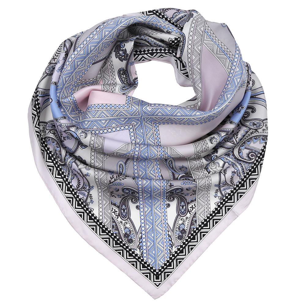 Платок женский Fabretti, цвет: серый, голубой. CX1617-30-8. Размер 90 см х 90 смCX1617-30-8Изысканный женский платок Fabretti выполнен из натурального шелка, который придает изделию неповторимый роскошный блеск и гладкость фактуры. Тонкая и прочная нить, создающая струящуюся ткать, подчеркнет изысканный вкус своей обладательницы.
