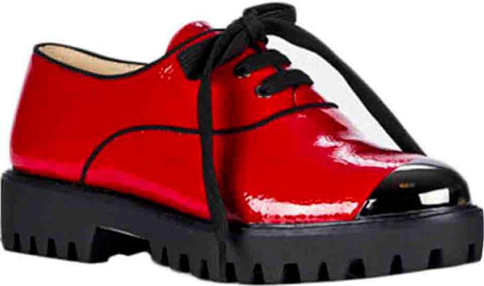 Полуботинки женские Vitacci, цвет: красный. 83349. Размер 4083349Стильные женские полуботинки от Vitacci изготовлены из качественной искусственной кожи. Модель оформлена удобной шнуровкой. Практичная стелька из кожи обеспечит комфорт при носке. Подошва дополнена низким широким каблуком и рифлением, что гарантирует идеальное сцепление с разными поверхностями.