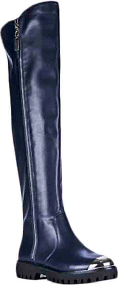Сапоги женские Vitacci, цвет: синий. 83300. Размер 3883300Стильные женские сапоги от Vitacci займут достойное место в вашем гардеробе. Модель изготовлена из качественной искусственной кожи. Сапоги застегиваются на молнию. Подкладка и стелька из ворсина защитят ноги от холода и обеспечат комфорт. Подошва и каблук дополнены рифлением. Модные сапоги займут достойное место среди вашей коллекции обуви.