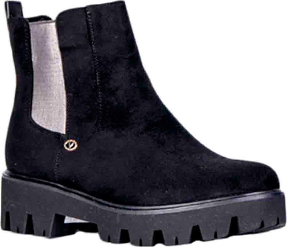 Ботинки женские Vitacci, цвет: черный. 83271. Размер 4183271Удобные женские ботинки от Vitacci изготовлены из качественной искусственной кожи. Боковые стороны дополнены эластичными резинками для удобства надевания. Практичная стелька из ворсина обеспечит комфорт при носке. Подошва дополнена небольшим каблуком и рифлением.