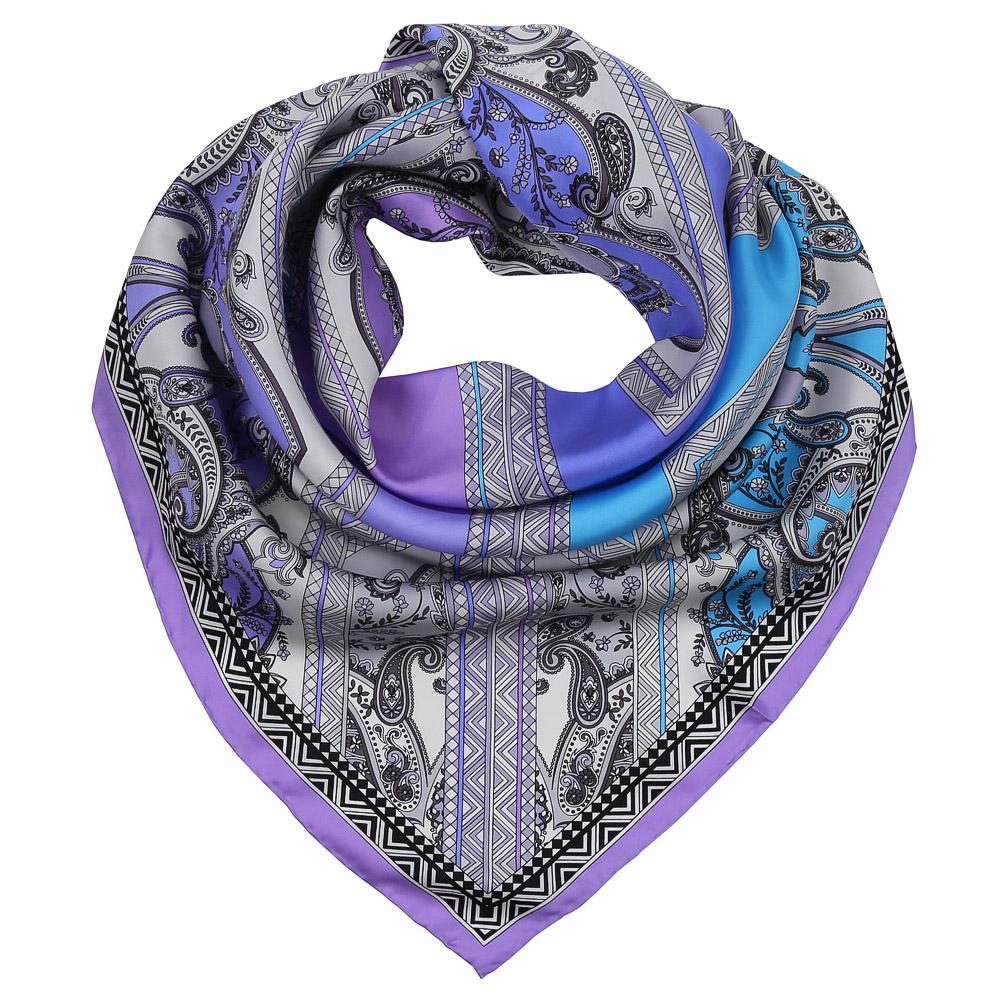 Платок женский Fabretti, цвет: сиреневый, синий, голубой. CX1617-30-2. Размер 90 см х 90 смCX1617-30-2Изысканный женский платок Fabretti выполнен из натурального шелка, который придает изделию неповторимый роскошный блеск и гладкость фактуры. Тонкая и прочная нить, создающая струящуюся ткать, подчеркнет изысканный вкус своей обладательницы.