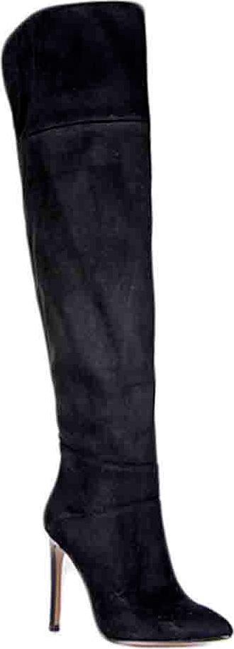 Ботфорты женские Vitacci, цвет: черный. 83093. Размер 3983093Женские ботфорты на высоком каблуке от Vitacci выполнены из качественной искусственной замши. Модель оформлена застежкой-молнией. Подкладка и стелька изготовлены из мягкого ворсина. Каблук и подошва выполнены из прочного полимерного материала.