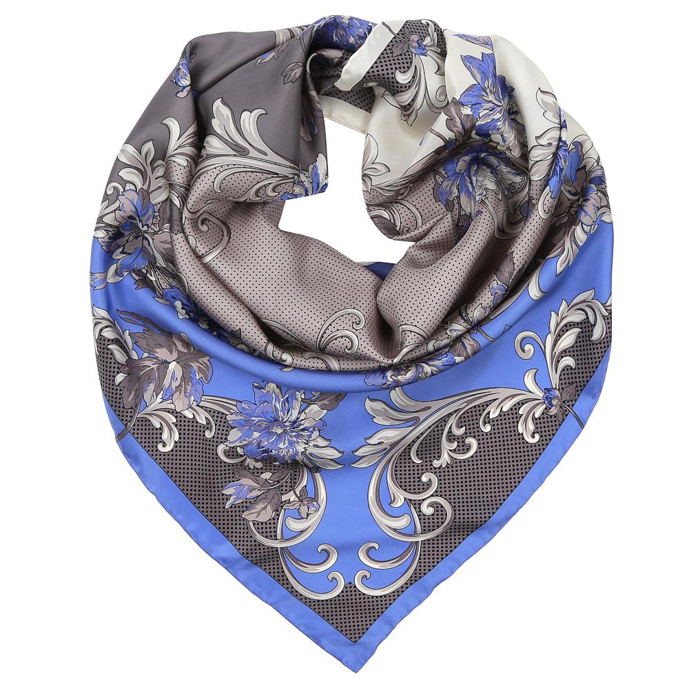 Платок женский Leo Ventoni, цвет: бежевый, голубой. CX1617-35-7. Размер 90 см х 90 смCX1617-35-7Изысканный женский платок Leo Ventoni выполнен из натурального шелка, который придает изделию неповторимый роскошный блеск и гладкость фактуры. Тонкая и прочная нить, создающая струящуюся ткать, подчеркнет изысканный вкус своей обладательницы.