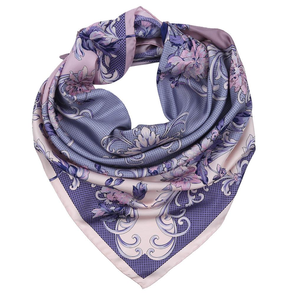 Платок женский Leo Ventoni, цвет: розовый, синий, серый. CX1617-35-3. Размер 90 см х 90 смCX1617-35-3Изысканный женский платок Leo Ventoni выполнен из натурального шелка, который придает изделию неповторимый роскошный блеск и гладкость фактуры. Тонкая и прочная нить, создающая струящуюся ткать, подчеркнет изысканный вкус своей обладательницы.