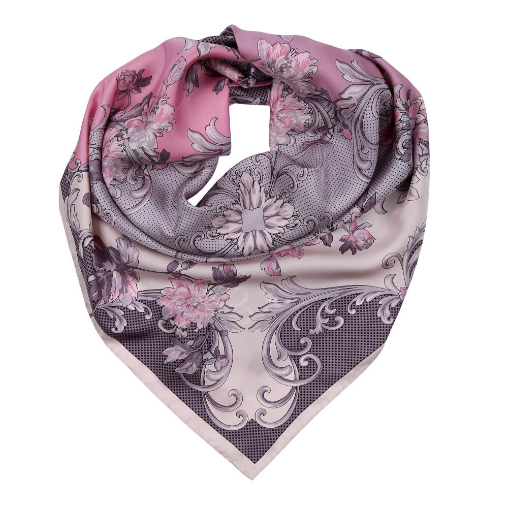 Платок женский Leo Ventoni, цвет: розовый, сиреневый, белый. CX1617-35-2. Размер 90 см х 90 смCX1617-35-2Изысканный женский платок Leo Ventoni выполнен из натурального шелка, который придает изделию неповторимый роскошный блеск и гладкость фактуры. Тонкая и прочная нить, создающая струящуюся ткать, подчеркнет изысканный вкус своей обладательницы.