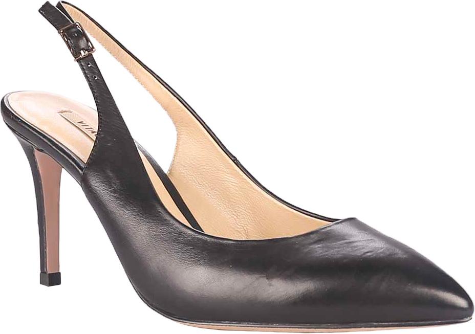 Туфли женские Vitacci, цвет: черный. 49321. Размер 3749321Стильные туфли Vitacci не оставят вас незамеченной! Модель изготовлена из качественной натуральной кожи. Туфли с открытой пяткой и ремешком с металлической пряжкой. Стелька из натуральной кожи обеспечивает комфорт и удобство при ходьбе. Подошва выполнена с высоким тонким каблуком.