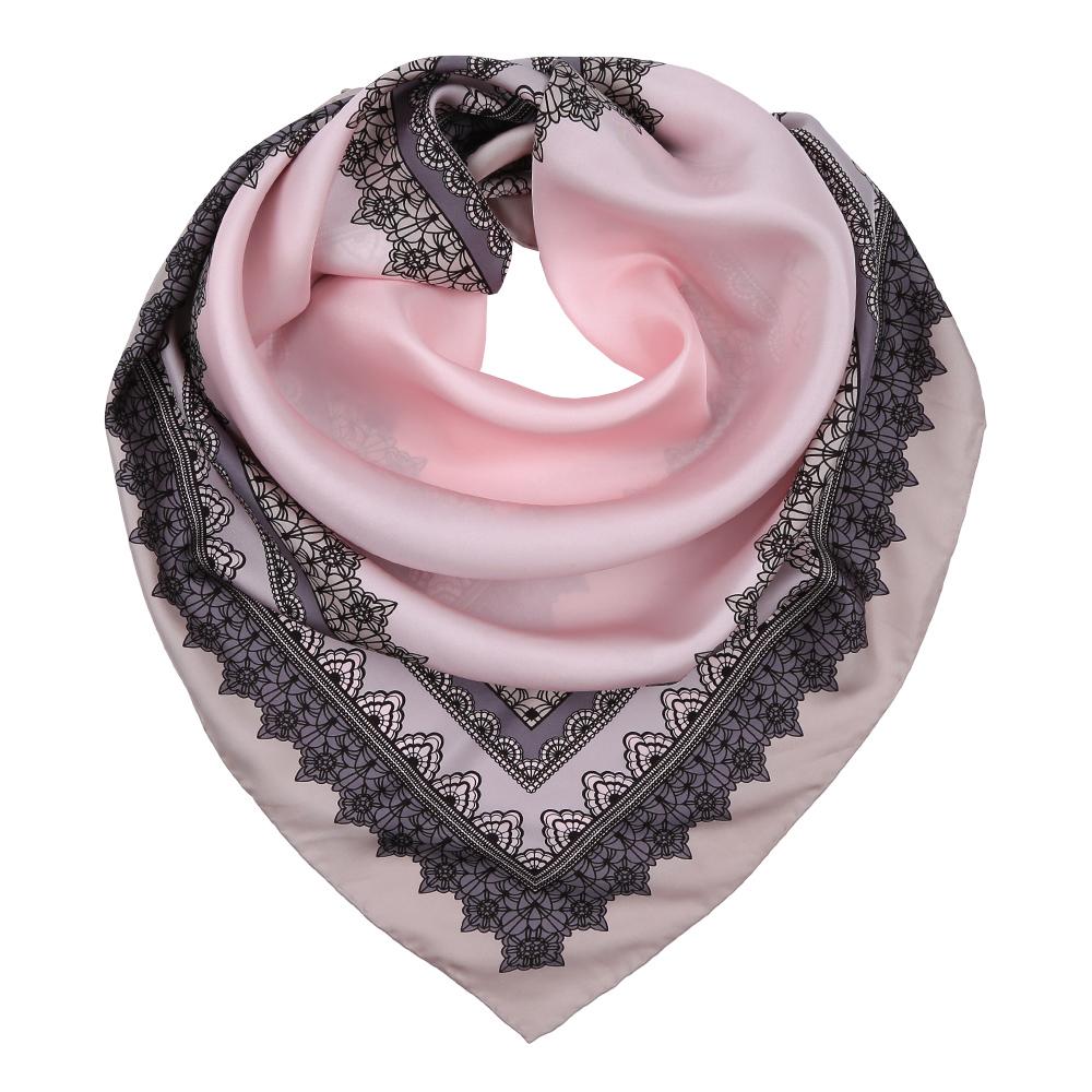 Платок женский Leo Ventoni, цвет: серый, розовый. CX1617-34-2. Размер 90 см х 90 смCX1617-34-2Изысканный женский платок Leo Ventoni выполнен из натурального шелка, который придает изделию неповторимый роскошный блеск и гладкость фактуры. Тонкая и прочная нить, создающая струящуюся ткать, подчеркнет изысканный вкус своей обладательницы.
