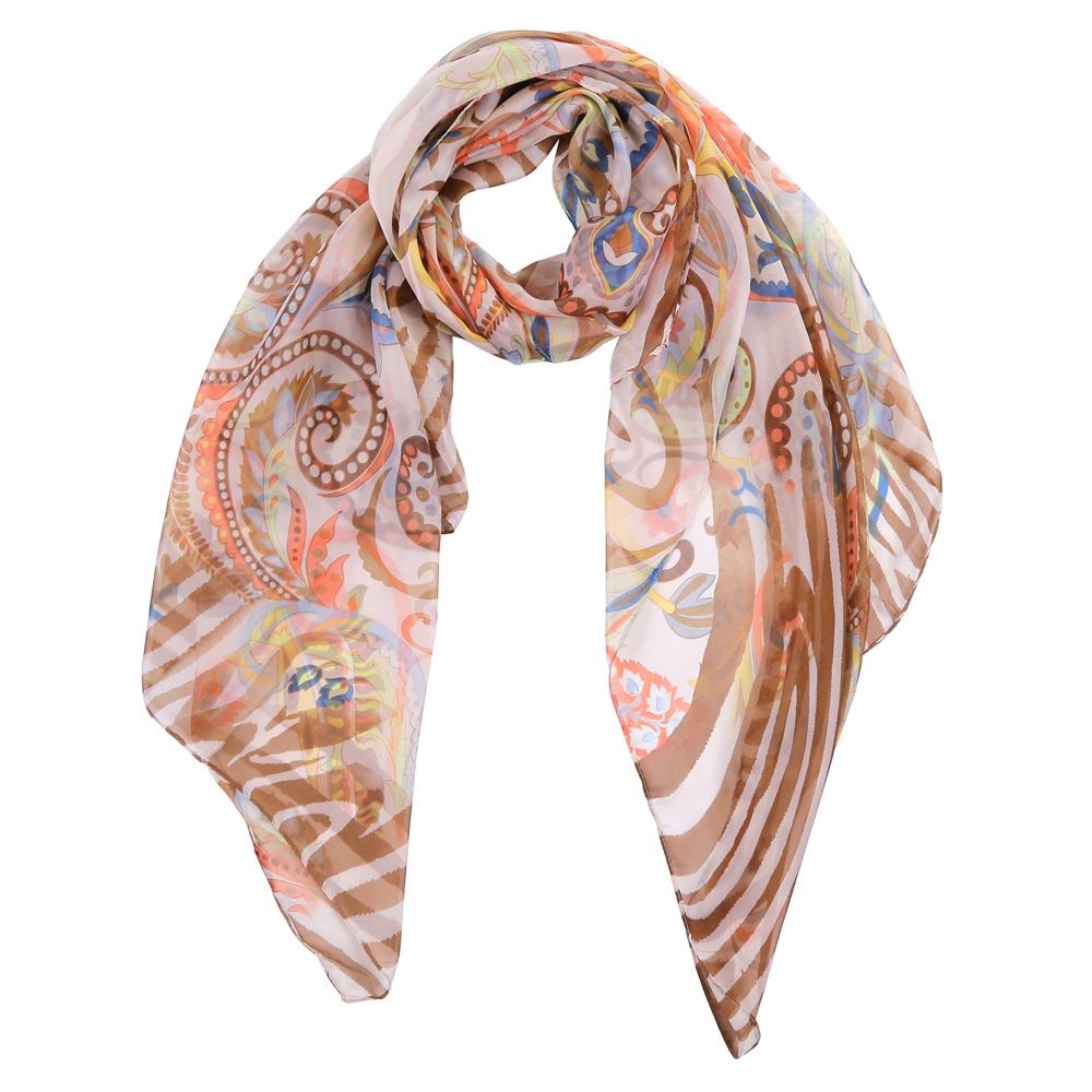 Шарф женский Fabretti, цвет: бежевый, белый, синий. TUT430-2. Размер 180 см х 90 смTUT430-2Элегантный женский шарф от итальянского бренда Fabretti имеет неповторимую мягкость и легкость фактуры. Красочное сочетание цветов позволило дизайнерам создать изысканную модель, которая станет изюминкой любого весеннего образа.