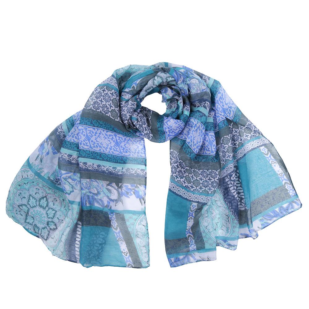 Шарф женский Fabretti, цвет: голубой. KY0914-C. Размер 180 см х 90 смKY0914-CЭлегантный женский шарф от итальянского бренда Fabretti имеет неповторимую мягкость и легкость фактуры. Красочное сочетание цветов позволило дизайнерам создать изысканную модель, которая станет изюминкой любого весеннего образа.