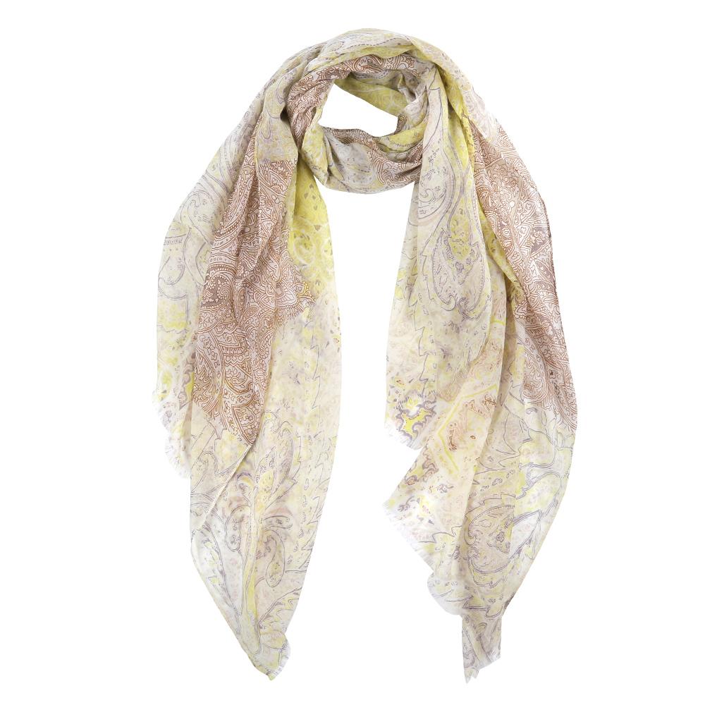Шарф женский Fabretti, цвет: бежевый, желтый. FR2142-3. Размер 200 см х 90 смFR2142-3Элегантный женский шарф от итальянского бренда Fabretti имеет неповторимую мягкость и легкость фактуры. Сочетание цветов позволило дизайнерам создать изысканную модель, которая станет изюминкой любого весеннего образа.