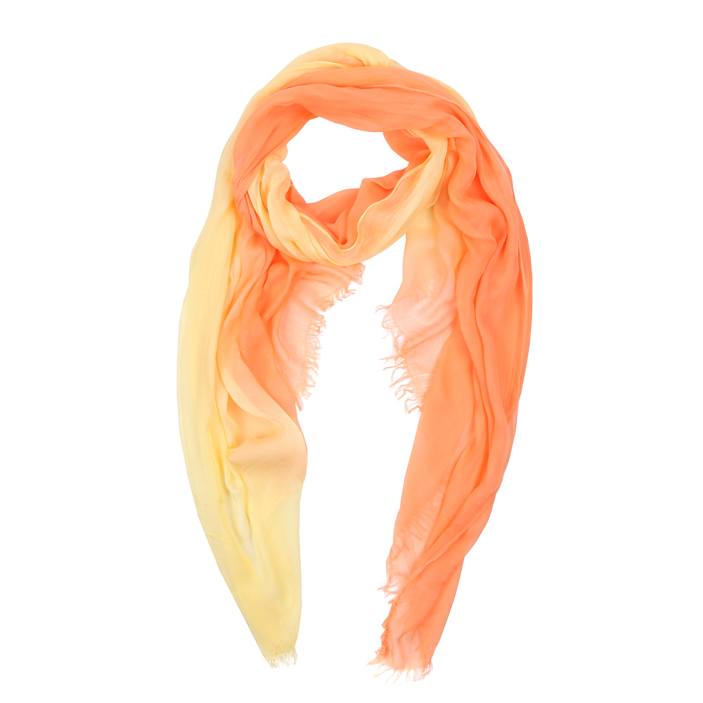 Шарф женский Fabretti, цвет: желтый, оранжевый. HV9001-1. Размер 195 см х 105 смHV9001-1Элегантный женский шарф от итальянского бренда Fabretti имеет неповторимую мягкость и легкость фактуры. Красочное сочетание цветов позволило дизайнерам создать изысканную модель, которая станет изюминкой любого весеннего образа.