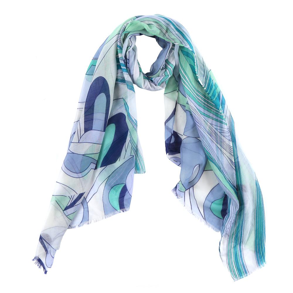 Шарф женский Fabretti, цвет: зеленый, синий. FR2150-1. Размер 200 см х 70 смFR2150-1Элегантный женский шарф от итальянского бренда Fabretti имеет неповторимую мягкость и легкость фактуры. Сочетание цветов позволило дизайнерам создать изысканную модель, которая станет изюминкой любого весеннего образа.