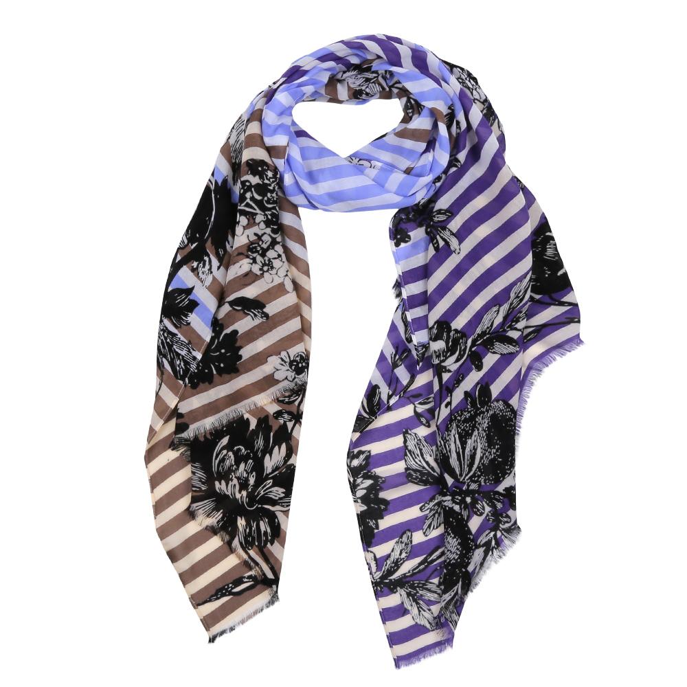 Шарф женский Fabretti, цвет: коричневый, фиолетовый. DS2016-003-16. Размер 180 см х 70 смDS2016-003-16Элегантный женский шарф от итальянского бренда Fabretti имеет неповторимую мягкость и легкость фактуры. Красочное сочетание цветов позволило дизайнерам создать изысканную модель, которая станет изюминкой любого весеннего образа.