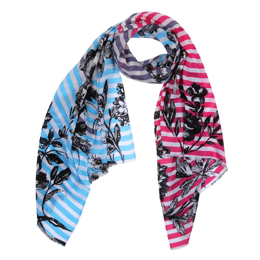 Шарф женский Fabretti, цвет: розовый, голубой. DS2016-003-26. Размер 180 см х 70 смDS2016-003-26Элегантный женский шарф от итальянского бренда Fabretti имеет неповторимую мягкость и легкость фактуры. Красочное сочетание цветов позволило дизайнерам создать изысканную модель, которая станет изюминкой любого весеннего образа.