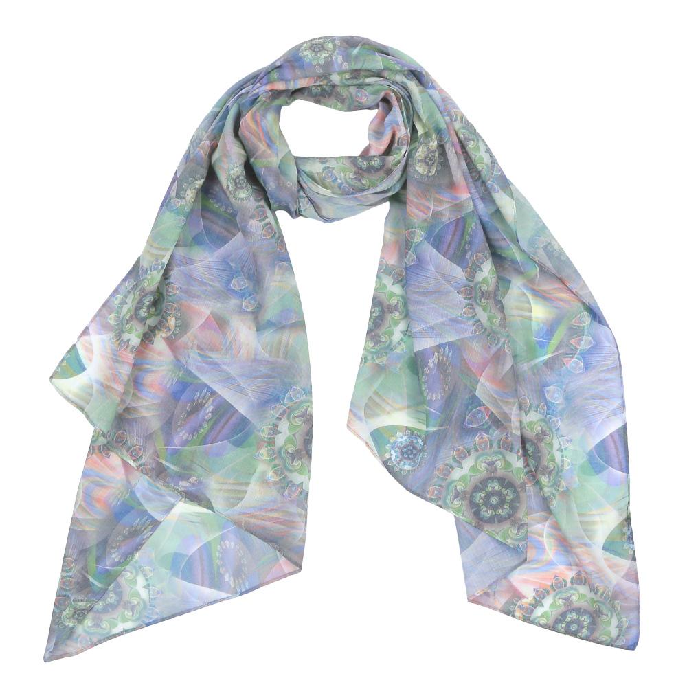 Шарф женский Fabretti, цвет: синий, зеленый, серый. F1550-6. Размер 190 см х 70 смF1550-6Элегантный женский шарф от итальянского бренда Fabretti имеет неповторимую мягкость и легкость фактуры. Красочное сочетание цветов позволило дизайнерам создать изысканную модель, которая станет изюминкой любого весеннего образа.