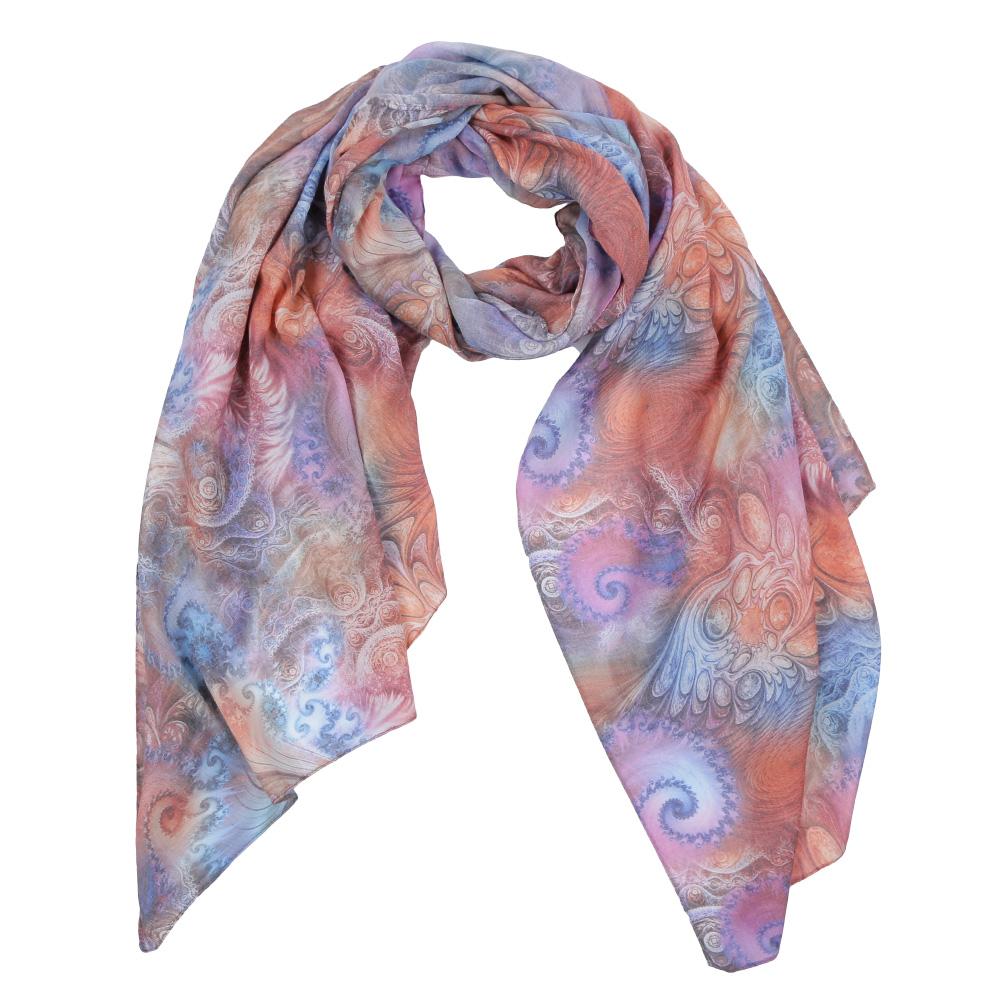 Шарф женский Fabretti, цвет: оранжевый, синий, бежевый. F1554-2. Размер 190 см х 70 смF1554-2Элегантный женский шарф от итальянского бренда Fabretti имеет неповторимую мягкость и легкость фактуры. Красочное сочетание цветов позволило дизайнерам создать изысканную модель, которая станет изюминкой любого весеннего образа.
