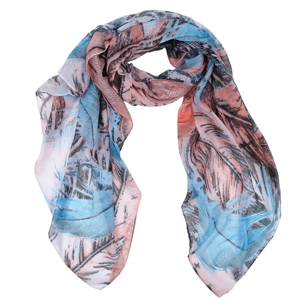 Шарф женский Fabretti, цвет: голубой, коричневый. Leo137-2. Размер 180 см х 90 смLeo137-2Элегантный женский шарф от итальянского бренда Fabretti имеет неповторимую мягкость и легкость фактуры. Красочное сочетание цветов позволило дизайнерам создать изысканную модель, которая станет изюминкой любого весеннего образа.