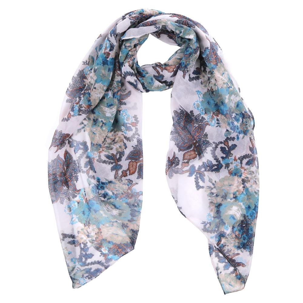Шарф женский Fabretti, цвет: белый, голубой. TUT008-2. Размер 180 см х 90 смTUT008-2Элегантный женский шарф от итальянского бренда Fabretti имеет неповторимую мягкость и легкость фактуры. Красочное сочетание цветов позволило дизайнерам создать изысканную модель, которая станет изюминкой любого весеннего образа.