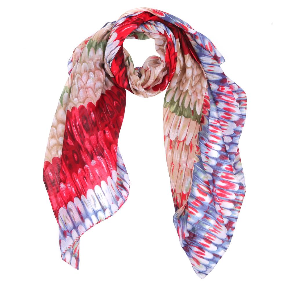 Шарф женский Fabretti, цвет: красный, синий. WJ9363-1. Размер 180 см х 90 смWJ9363-1Элегантный женский шарф от итальянского бренда Fabretti имеет неповторимую мягкость и легкость фактуры. Красочное сочетание цветов позволило дизайнерам создать изысканную модель, которая станет изюминкой любого весеннего образа.