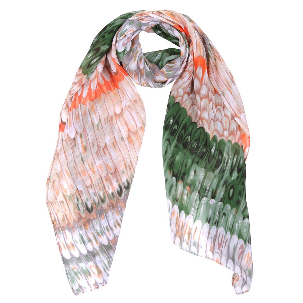 Шарф женский Fabretti, цвет: зеленый, оранжевый. WJ9363-7. Размер 180 см х 90 смWJ9363-7Элегантный женский шарф от итальянского бренда Fabretti имеет неповторимую мягкость и легкость фактуры. Красочное сочетание цветов позволило дизайнерам создать изысканную модель, которая станет изюминкой любого весеннего образа.