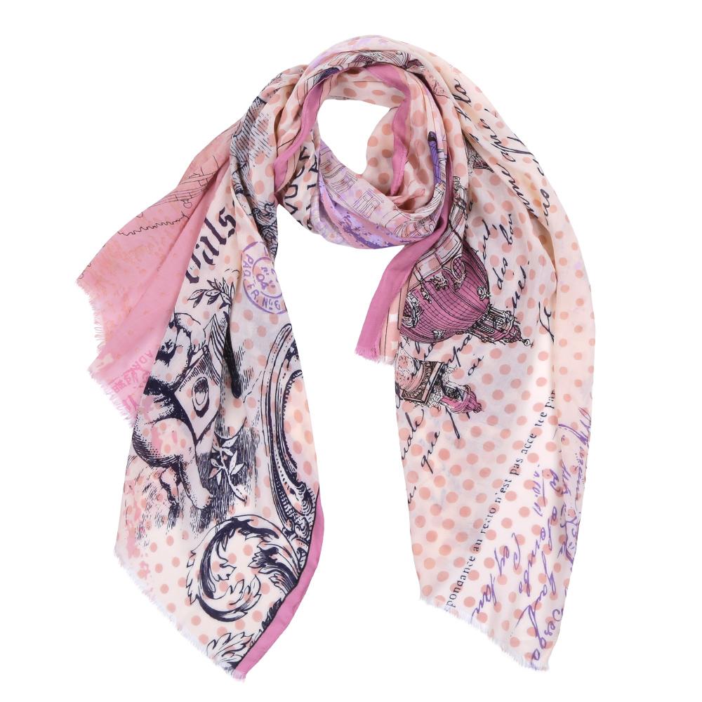 Шарф женский Fabretti, цвет: розовый. DS2016-004-6. Размер 180 см х 70 смDS2016-004-6Элегантный женский шарф от итальянского бренда Fabretti имеет неповторимую мягкость и легкость фактуры. Красочное сочетание цветов позволило дизайнерам создать изысканную модель, которая станет изюминкой любого весеннего образа.