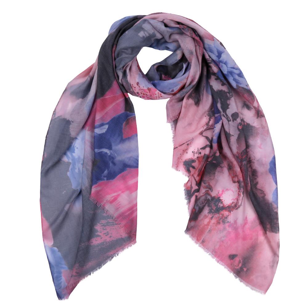 Шарф женский Fabretti, цвет: розовый, синий. F1539-2. Размер 190 см х 95 смF1539-2Элегантный женский шарф от итальянского бренда Fabretti имеет неповторимую мягкость и легкость фактуры. Красочное сочетание цветов позволило дизайнерам создать изысканную модель, которая станет изюминкой любого весеннего образа.