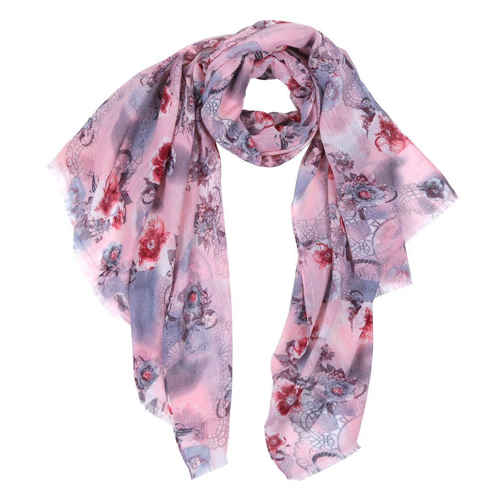 Шарф женский Fabretti, цвет: розовый. HV0296-1. Размер 180 см х 90 смHV0296-1Элегантный женский шарф от итальянского бренда Fabretti имеет неповторимую мягкость и легкость фактуры. Красочное сочетание цветов позволило дизайнерам создать изысканную модель, которая станет изюминкой любого весеннего образа.