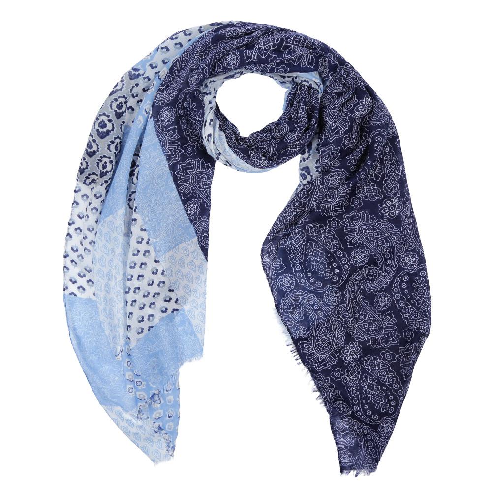 Шарф женский Fabretti, цвет: синий, голубой. Leo459-C. Размер 180 см х 90 смLeo459-CЭлегантный женский шарф от итальянского бренда Fabretti имеет неповторимую мягкость и легкость фактуры. Красочное сочетание цветов позволило дизайнерам создать изысканную модель, которая станет изюминкой любого весеннего образа.