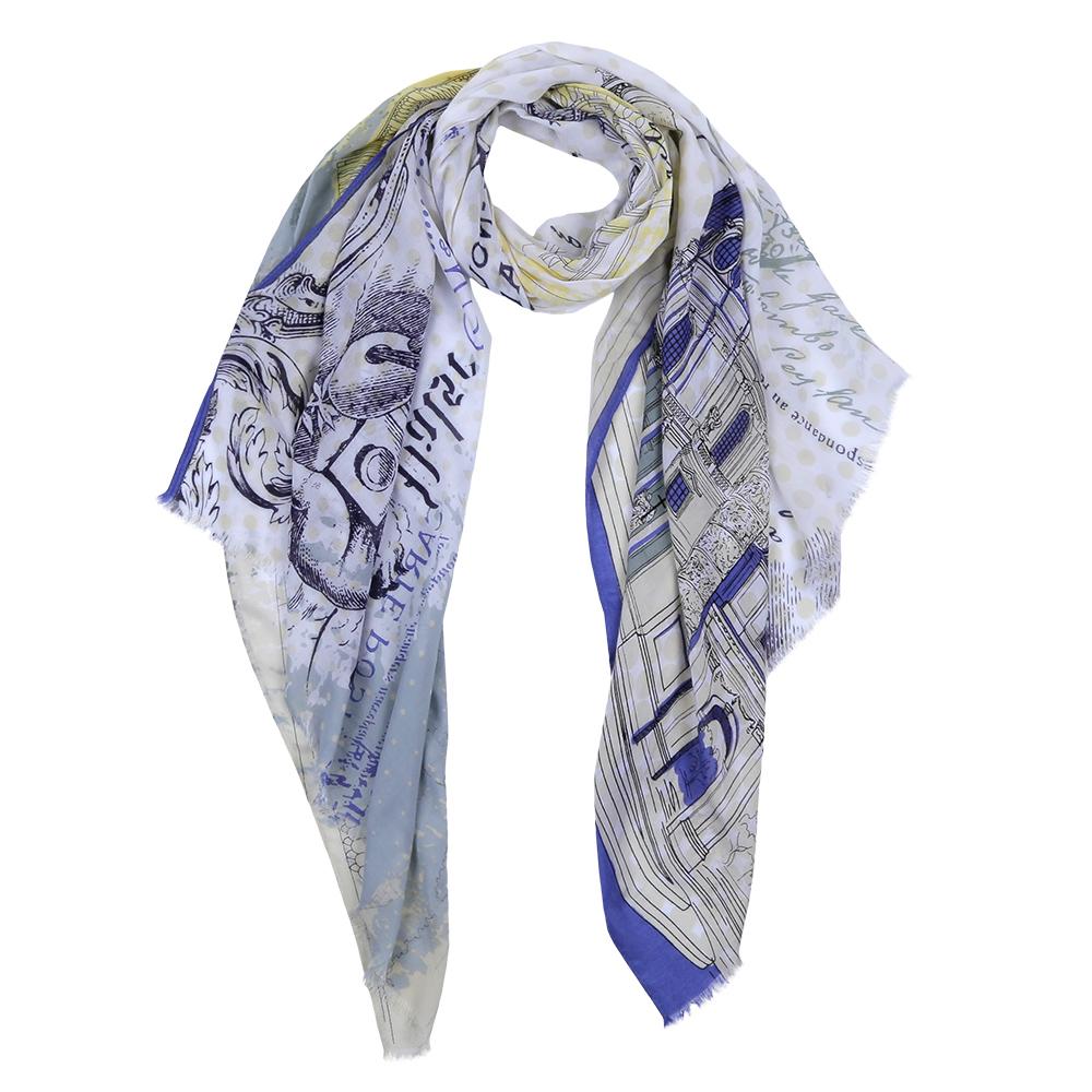 Шарф женский Fabretti, цвет: синий, белый. DS2016-004-5. Размер 180 см х 70 смDS2016-004-5Элегантный женский шарф от итальянского бренда Fabretti имеет неповторимую мягкость и легкость фактуры. Красочное сочетание цветов позволило дизайнерам создать изысканную модель, которая станет изюминкой любого весеннего образа.