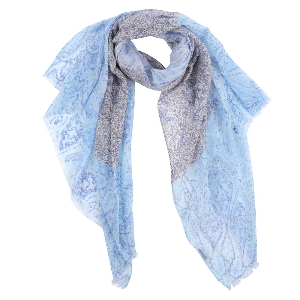 Шарф женский Fabretti, цвет: голубой, серый. FR2142-1. Размер 200 см х 90 смFR2142-1Элегантный женский шарф от итальянского бренда Fabretti имеет неповторимую мягкость и легкость фактуры. Сочетание цветов позволило дизайнерам создать изысканную модель, которая станет изюминкой любого весеннего образа.