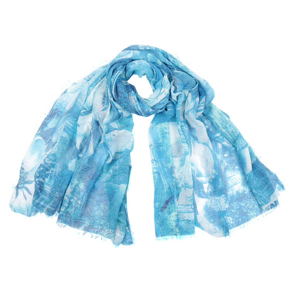 Шарф женский Fabretti, цвет: синий. SR16115-4. Размер 180 см х 90 смSR16115-4Элегантный женский шарф от итальянского бренда Fabretti имеет неповторимую мягкость и легкость фактуры. Красочное сочетание цветов позволило дизайнерам создать изысканную модель, которая станет изюминкой любого весеннего образа.