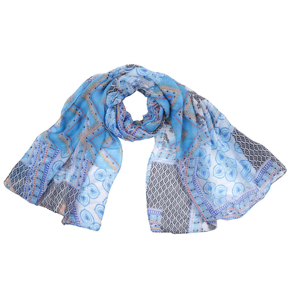 Шарф женский Fabretti, цвет: голубой, бежевый. XHL1-2. Размер 180 см х 90 смXHL1-2Элегантный женский шарф от итальянского бренда Fabretti имеет неповторимую мягкость и легкость фактуры. Красочное сочетание цветов позволило дизайнерам создать изысканную модель, которая станет изюминкой любого весеннего образа.