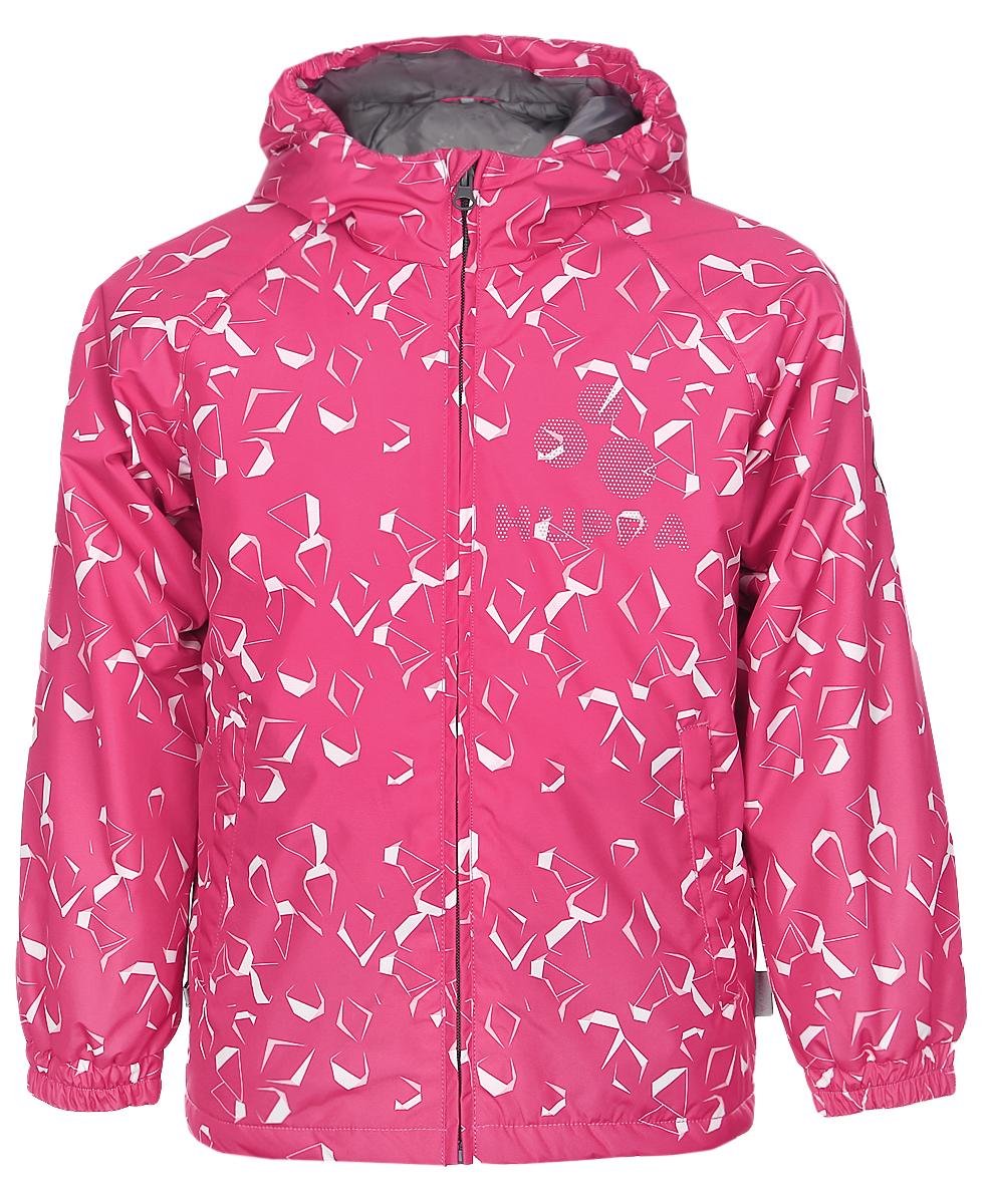 Куртка детская Huppa Classy 1, цвет: фуксия, белый. 17710010-563. Размер 14017710010-563Детская куртка Huppa изготовлена из водонепроницаемого полиэстера. Куртка с капюшоном застегивается на пластиковую застежку-молнию с защитой подбородка. Высокотехнологичный лёгкий синтетический утеплитель нового поколения сохраняет объём и высокую теплоизоляцию изделия. Края капюшона и рукавов собраны на внутренние резинки. У модели имеются два врезных кармана. Изделие дополнено светоотражающими элементами.Выдерживает температуру до -5°C.