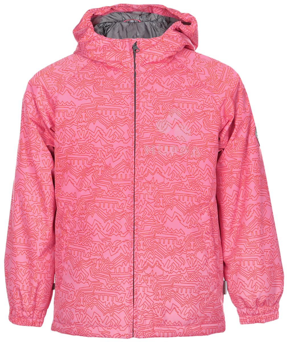 Куртка детская Huppa Classy 1, цвет: розовый. 17710010-913. Размер 12217710010-913Детская куртка Huppa изготовлена из водонепроницаемого полиэстера. Куртка с капюшоном застегивается на пластиковую застежку-молнию с защитой подбородка. Высокотехнологичный лёгкий синтетический утеплитель нового поколения сохраняет объём и высокую теплоизоляцию изделия. Края капюшона и рукавов собраны на внутренние резинки. У модели имеются два врезных кармана. Изделие дополнено светоотражающими элементами.Выдерживает температуру до -5°C.