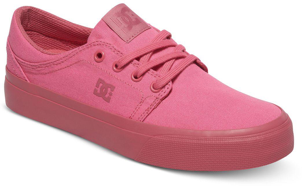 Кеды женские DC Shoes Trase TX, цвет: розовый. ADJS300078-DRT. Размер 7,5B (38,5)ADJS300078-DRTСтильные женские кеды DC Shoes Trase TX - отличный вариант на каждый день.Модель выполнена из текстиля. Шнуровка надежно фиксирует обувь на ноге. Резиновая подошва с протектором гарантирует отличное сцепление с поверхностью. В таких кедах вашим ногам будет комфортно и уютно.