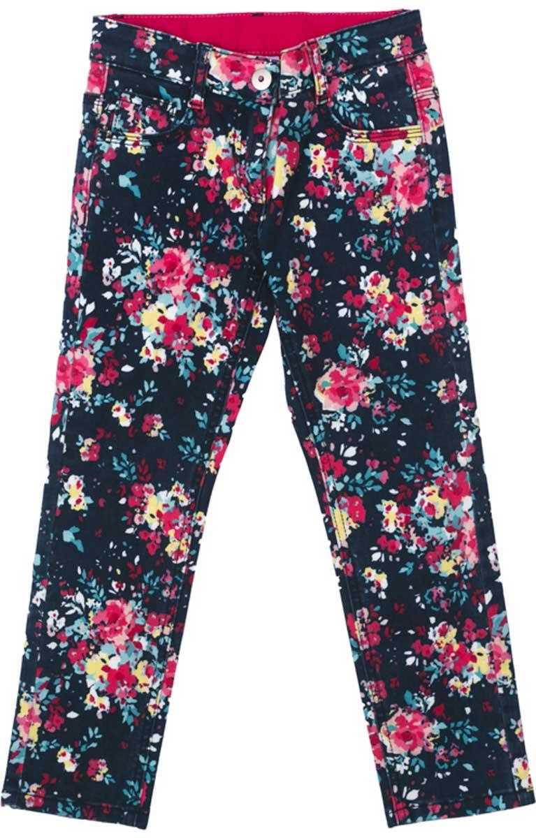 Брюки для девочки PlayToday, цвет: черный, розовый. 172009. Размер 128172009Стильные брюки из мягкой яркой цветной ткани понравятся вашей моднице. Брюки комфортны при носке и не сковывают движений ребенка. Модель с карманами, снабжена шлевками. Могут быть хорошей базовой вещью в детском гардеробе