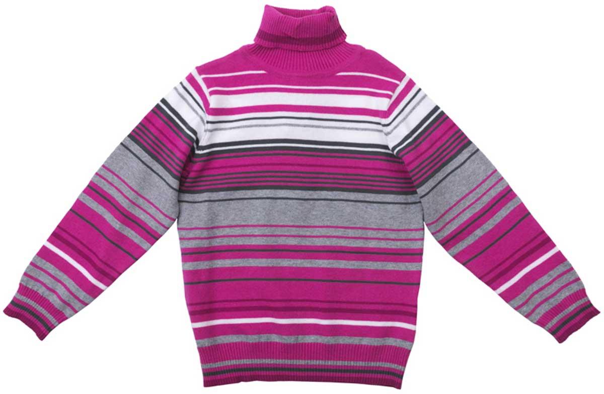 Свитер для девочки PlayToday, цвет: розовый, серый, белый. 172057. Размер 104172057Свитер PlayToday прекрасно подойдет для прохладной погоды, приятен к телу и не сковывает движений ребенка. Материал изделия изготовлен методом yarn dyed - в процессе производства в полотне используются разного цвета нити. Тем самым изделие, при рекомендуемом уходе, не линяет и надолго остается в прежнем виде, это определенный знак качества. Мягкие резинки на манжетах и по низу изделия позволяют ему держать форму.