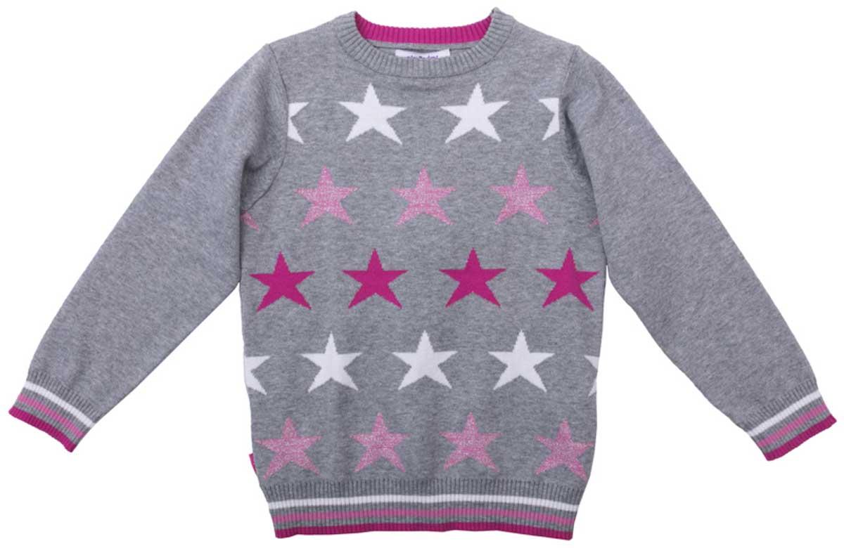 Джемпер для девочки PlayToday, цвет: серый, розовый, светло-розовый, белый. 172058. Размер 116172058Джемпер с округлым вырезом прекрасно подойдет для прохладной погоды. Натуральная ткань приятна к телу и не сковывает движений ребенка. Мягкие резинки на манжетах, горловине и по низу изделия. Материал изделия изготовлен методом yarn dyed - в процессе производства в полотне используются разного цвета нити. Тем самым изделие, при рекомендуемом уходе, не линяет и надолго остается в прежнем виде, это определенный знак качества.