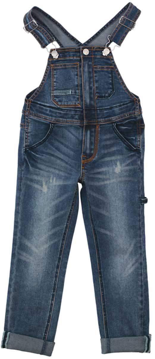 Полукомбинезон для девочки PlayToday, цвет: синий. 172061. Размер 98172061Полукомбинезон из джинсовой ткани будет незаменимым в любом гардеробе. Хорошо сочетается с футболками и водолазками. Пуговицы - болты являются удачным стильным и практичным дополнением. Мягкая ткань приятна к телу. Не сковывает движения ребенка. Модель с высокой грудкой и широкими бретелями.