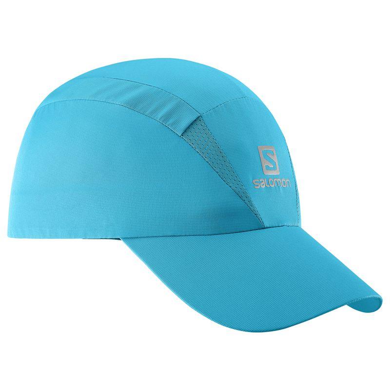 Кепка для бега Salomon Xa Cap, цвет: бирюзовый. L39403000. Размер S/M (54)L39403000Новый лаконичный силуэт, низкий вес и хорошая вентиляция: кепка XA Cap быстро сохнет, сохраняя чувство свежести и комфорта при беге. Дополнительная вентиляция в верхней части для самой жаркой погоды.