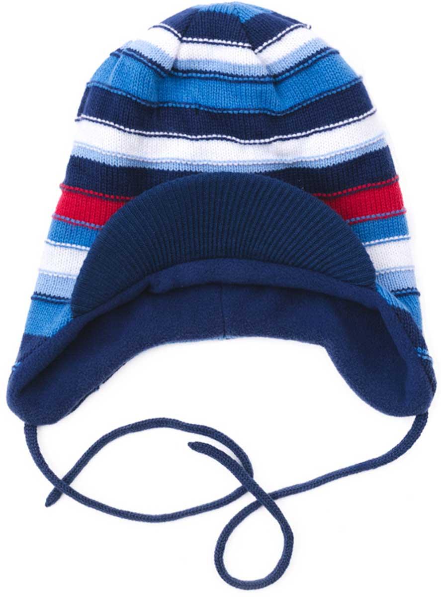 Шапка для мальчика PlayToday, цвет: темно-синий, голубой. 177034. Размер 48177034Шапка для мальчика PlayToday выполнена из хлопка и акрила с козырьком и на завязках подойдет для прогулок в прохладную погоду. Эргономичная конструкция этой шапки предохранит уши вашего ребенка от сильного ветра. Плотно прилегает к голове.Уважаемые клиенты!Размер, доступный для заказа, является обхватом головы.